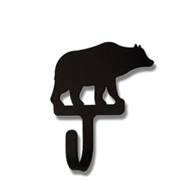 Wrought Iron Bear Magnet Hook