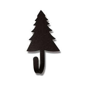Wrought Iron Pine Tree Magnet Hook