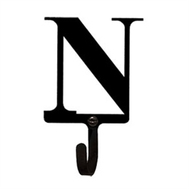Wrought Iron Letter N Wall Hook