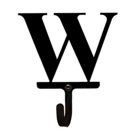 Wrought Iron Letter W Wall Hook