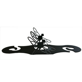 Wrought Iron Dragonfly Wine Caddy