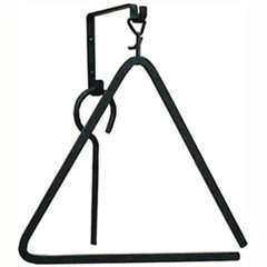 Pictured is the classic large iron triangle chime that measures 14-in. x 15-in.