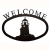 Wrought Iron Lighthouse Welcome Sign