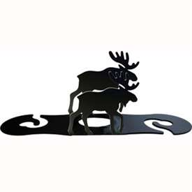 Wrought Iron Moose Wine Caddy