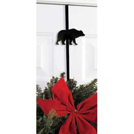 Wrought Iron Bear Wreath Hanger