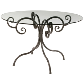 Waterbury Breakfast Table Hand-forged by Stone County Ironworks, sold at www.TimelessWroughtIron.com