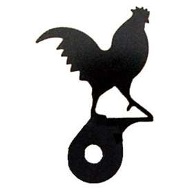 Wrought Iron Rooster Cabinet Silhouette