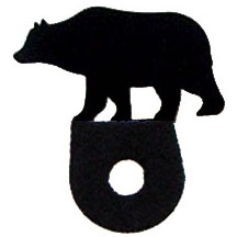 Wrought Iron Bear Cabinet Silhouette