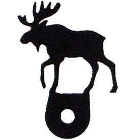Wrought Iron Moose Cabinet Silhouette