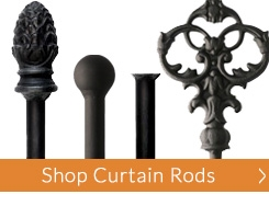 Wrought Iron Curtain Rods and Iron Drapery Hardware | Timeless ...