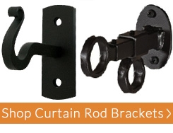 Wrought Iron Curtain Rods And Drapery Hardware