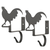 Pictured here is the Rooster Curtain Shelf Brackets with a flat black powder coat finish.
