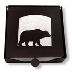 Wrought Iron Bear Napkin Holder (2-piece)