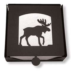 Wrought Iron Moose Napkin Holder (2-piece)