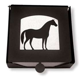 Wrought Iron Horse Napkin Holder (2-piece)