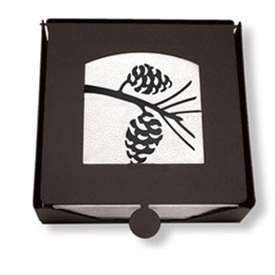 Wrought Iron Pine Cone Napkin Holder (2-piece)