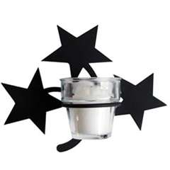 Wrought Iron Star Votive Sconce