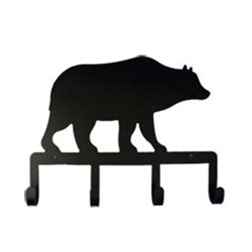 Wrought Iron Bear Key Holder