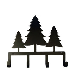 Wrought Iron Pine Trees Key Holder