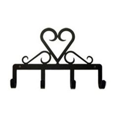 Wrought Iron Heart Key Holder