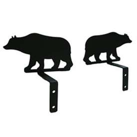 Wrought Iron Bear Curtain Swags