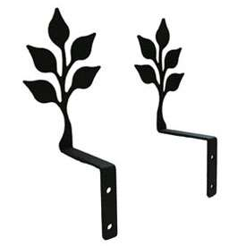 Wrought Iron Leaf Curtain Swags