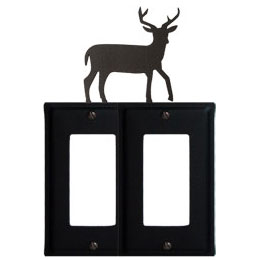 Wrought Iron Deer Double GFI Cover