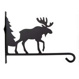 Wrought Iron Plant Hanger Moose & Tree