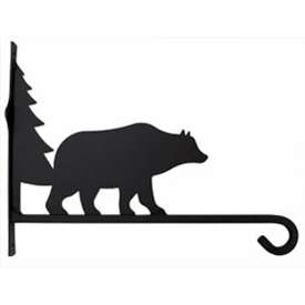 Wrought Iron Plant Hanger Bear & Tree