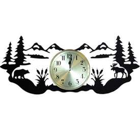 Wrought Iron Adirondack Wall Clock