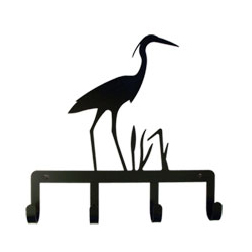 Wrought Iron Heron Key Holder