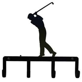 Wrought Iron Golfer Key Holder