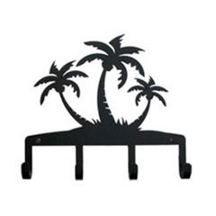 Wrought Iron Palm Trees Key Holder