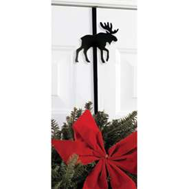 Wrought Iron Moose Wreath Hanger