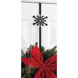 Wrought Iron Snowflake Wreath Hanger