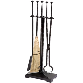 Pictured Here Is The Forest Hill Fireplace Tool Set With Enchanting Hand Forged Textures And