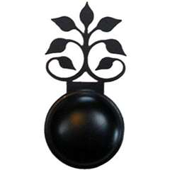 Wrought Iron Leaf Fan Cabinet Knob