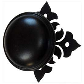 Wrought Iron Floral Cabinet Knob