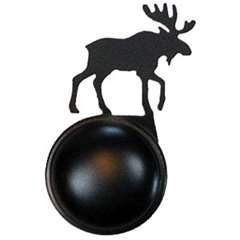 Wrought Iron Moose Cabinet Knob