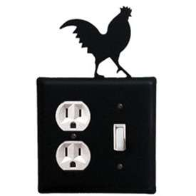 Wrought Iron Rooster Outlet & Switch Cover