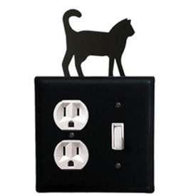 Wrought Iron Cat Outlet & Switch Cover