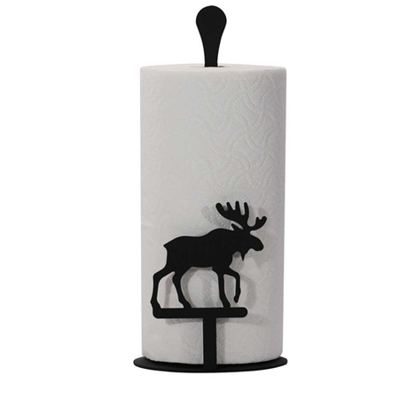 Wrought Iron Moose Paper Towel Stand