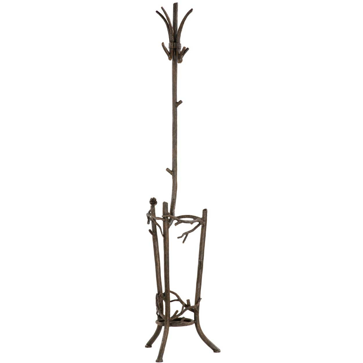 Uncategorized Stand Up Coat Rack wrought iron coat racks and trees timeless rustic pine rack with umbrella stand