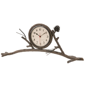 Rustic Pine Mantle Clock
