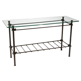 Wrought Iron Knot Console Table hand-forged by blacksmiths, sold at www.TimelessWroughtIron.com