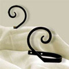 Wrought Iron Scroll Tie Backs