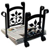 Wrought Iron Leaf Fan Recycle Bin