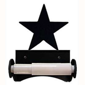 Wrought Iron Star Toilet Paper Holder (Roller Style)
