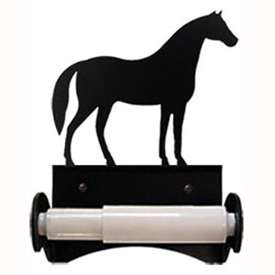 Wrought Iron Horse Toilet Paper Holder (Roller Style)