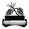 Wrought Iron Pine Cone Toilet Paper Holder (Roller Style)